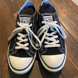 Mens 8-1/2 Converse One Star Black Canvas Sneakers
